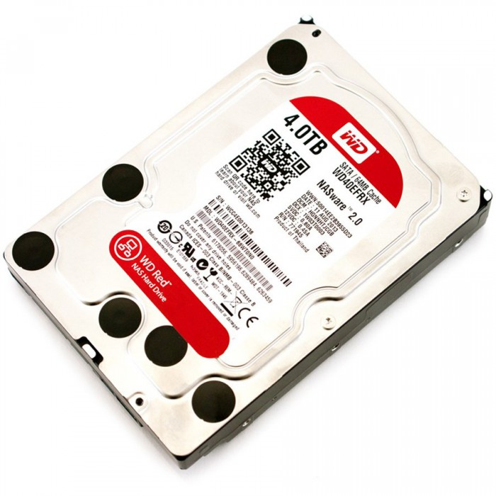 "HDD WD Red HDD Desktop (3.5\'\', 4TB, 64MB, RPM IntelliPower, SATA 6 Gb/s)""WD40EFRX"" 0"