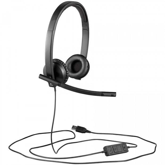 CASTI LOGITECH UC Corded Stereo USB Headset H570e (Leatherette Pad) - Business EMEA 0