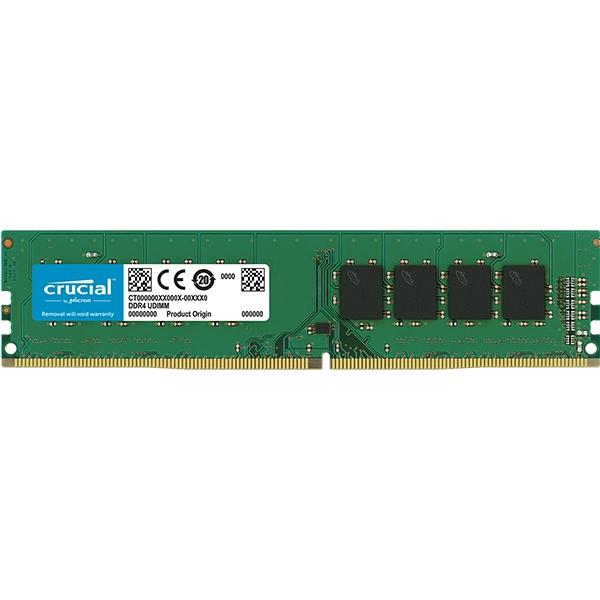 "Crucial DRAM 8GB DDR4 2666 MT/s (PC4-21300) CL19 SR x8 Unbuffered DIMM 288pin ""CT8G4DFS8266"""