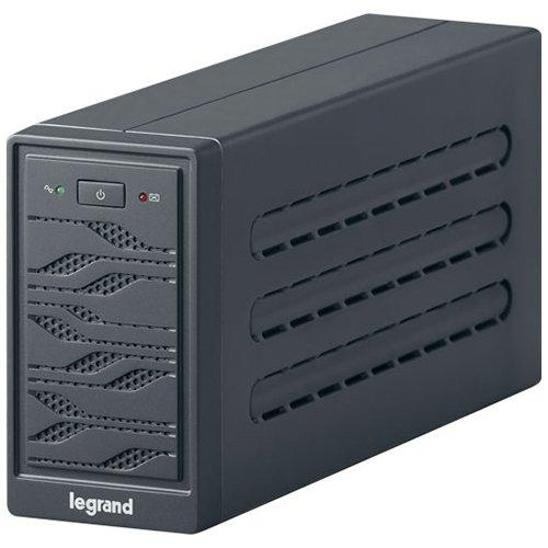 UPS Legrand Niky Tower 600VA/300W Line interactive, Single-phase, Protection RJ 11/RJ 45, Un buton, 2 leduri, Pseudo-sinusoidal, Battery 1 x 12 V, 7 Ah, 7 Kg, management USB, IN 1x C13, OUT 1xC13 & 1 0