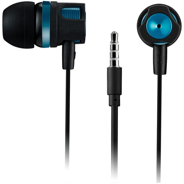 CANYON Stereo earphones with microphone, Green, cable length 1.2m, 21.5*12mm, 0.011kg 0