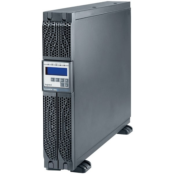 UPS Legrand DAKER DK + Tower/Rack, 3000VA/2700W, On Line Double Conversion, Sinusoidal, PFC, USB & RS232 port, 6 x IEC C13 & 1 x IEC C19, batteries 6x 12V, 9Ah, 30 kg, (Optional Kit Rack 310952, SNMP  0