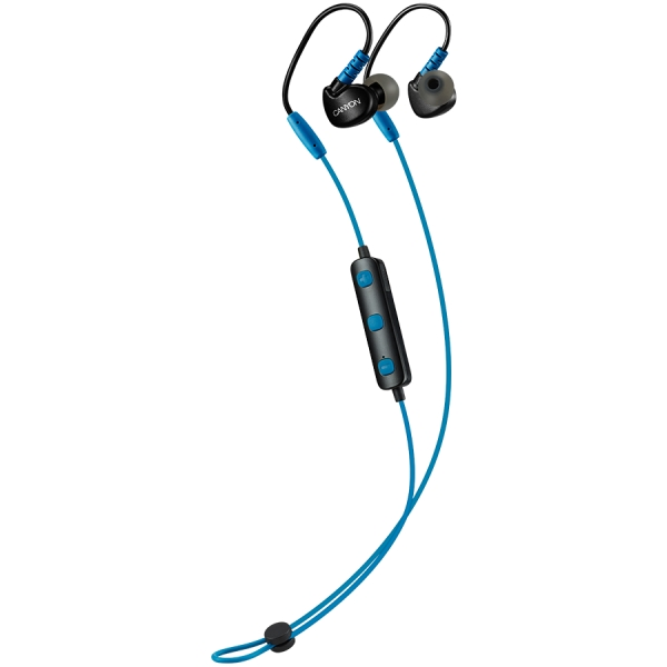 Canyon Bluetooth sport earphones with microphone, 0.3m cable, blue 2