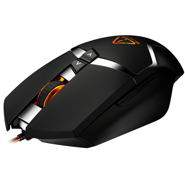 CANYON Wired gaming mouse programmable, Sunplus 189E2 IC sensor, DPI up to 4800 adjustable by software, Black rubber coating with chrome design 3