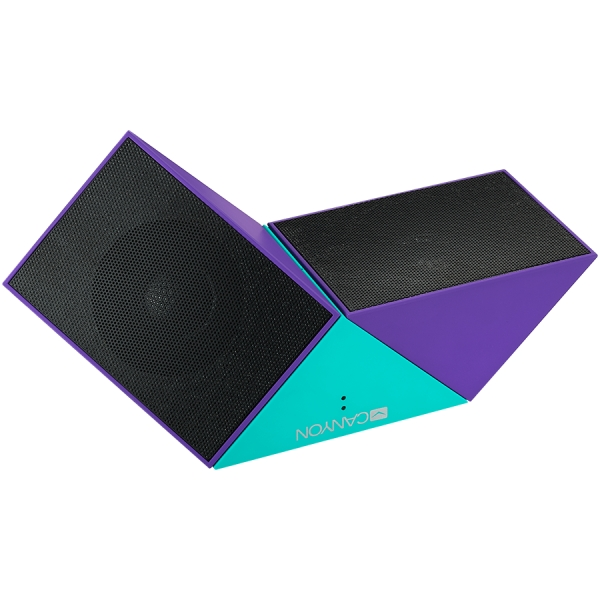 Transformer Bluetooth Speaker, BT V4.1, BEKEN BK3254, 360 degree rotation, Built in microphone, TF card support, 3.5mm AUX, micro-USB port, 800mAh polymer battery, blue-purple 2