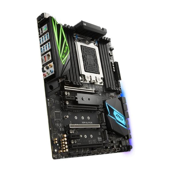 """MSI Main Board Desktop X399 SLI PLUS, TR4,8DDR4,4PCI-Ex16,2PCI-Ex1,3M.2,8SATA3,3USB 3.1 Gen2,12USB3.1 Gen1, ATX, Retail """"X399_SLI_PLUS"""""""