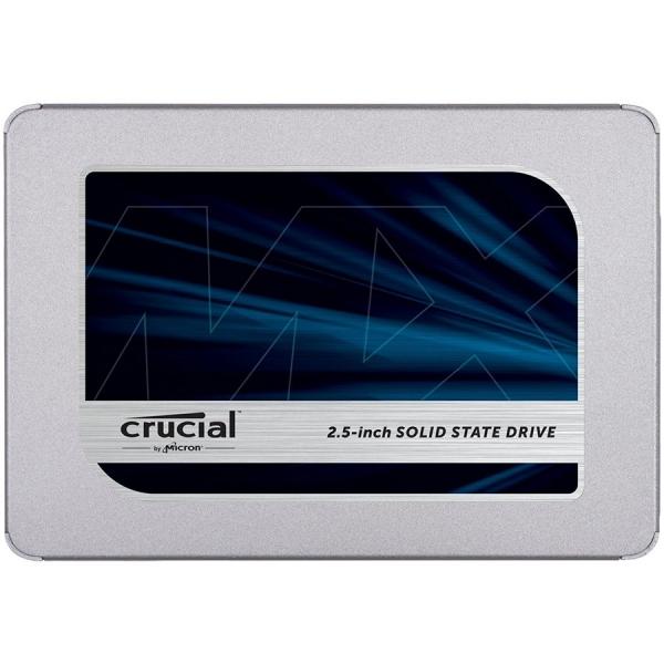 """CRUCIAL MX500 250GB SSD, 2.5# 7mm (with 9.5mm adapter), SATA 6 Gbit/s, Read/Write: 560 MB/s / 510 MB/s, Random Read/Write IOPS 95K/90K """"CT250MX500SSD1"""" 0"""