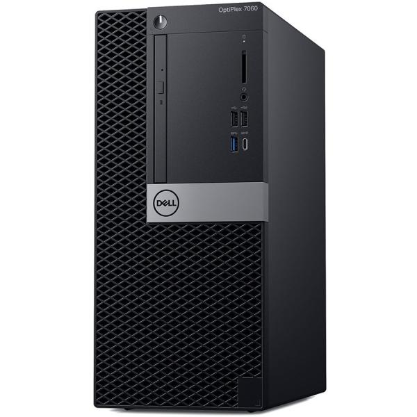 Dell Optiplex 7060 MT, Intel Core i7-8700(12MB Cache, 4.60GHz), 16GB(2x8GB) DDR4 2666MHz, 256GB(M.2) SSD, DVD+/-RW, AMD Radeon RX 550 4GB, Dell USB Optical Mouse, KB216 Keybd, Win 10 Pro(64bit), 3Yr N 0