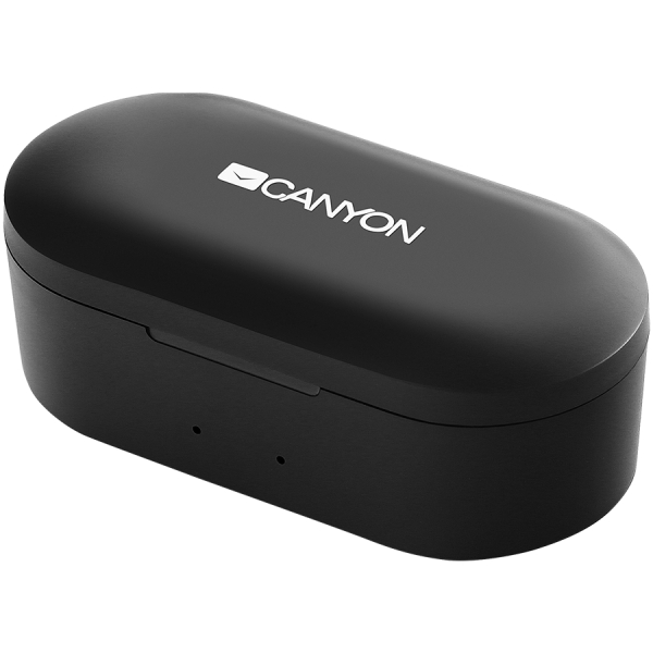 Canyon TWS Bluetooth sport headset, with microphone, BT V5.0, RTL8763BFR, battery EarBud 43mAh*2+Charging Case 800mAh, cable length 0.18m, 78*38*32mm, 0.063kg, Black 2