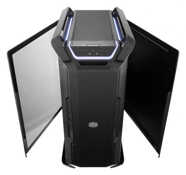 "CARCASA COOLER MASTER. Full-Tower E-ATX, Cosmos  C700P, tempered glass, 3* 140mm fan (inclus), I/O panel, RGB controller & RGB LED strips, black ""MCC-C700P-KG5N-S00"" 2"
