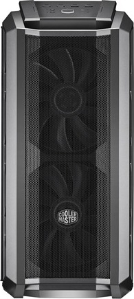 "CARCASA COOLER MASTER Middle-Tower E-ATX, MasterCase. H500P MESH, tempered glass, 2* 200mm RGB fan (incluse), I/O panel, gun metal ""MCM-H500P-MGNN-S10"" 2"