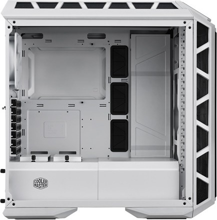 "CARCASA COOLER MASTER Middle-Tower E-ATX, MasterCase. H500P MESH, tempered glass, 2* 200mm RGB fan (incluse), I/O panel, white ""MCM-H500P-WGNN-S00"" 1"