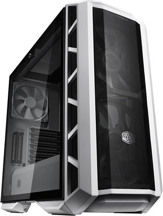"CARCASA COOLER MASTER Middle-Tower E-ATX, MasterCase. H500P MESH, tempered glass, 2* 200mm RGB fan (incluse), I/O panel, white ""MCM-H500P-WGNN-S00"" 0"