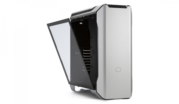 "CARCASA COOLER MASTER Middle-Tower E-ATX, MasterCase SL600M, w/ controller, tempered glass, 2* 200mm fan (incluse), I/O panel, black & silver ""MCM-SL600M-SGNN-S00"" 1"