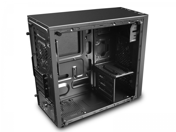 "CARCASA DeepCool Mini-Tower mATX, 1x 120mm fans, tempered glass, front audio & 1x USB 3.0, 1x USB 2.0, black ""MATREXX 30"" 1"