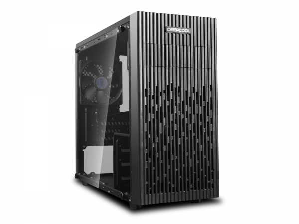 "CARCASA DeepCool Mini-Tower mATX, 1x 120mm fans, tempered glass, front audio & 1x USB 3.0, 1x USB 2.0, black ""MATREXX 30"" 0"