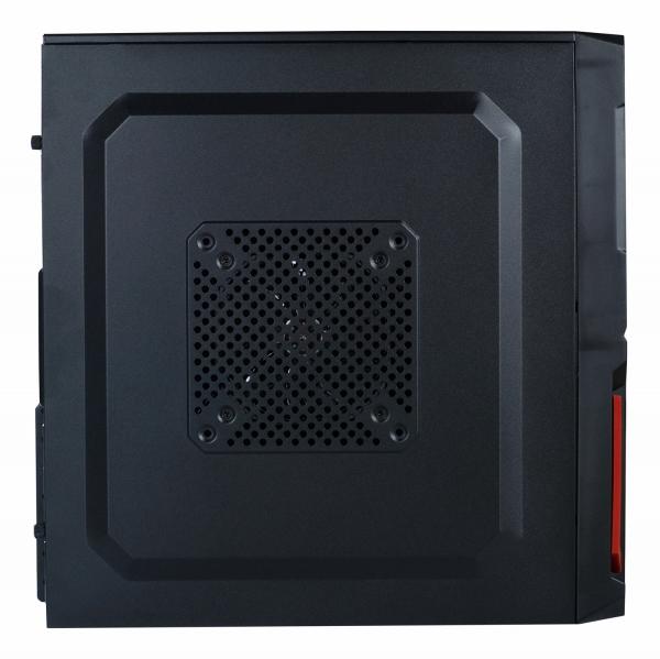 "CARCASA SPACER  Mini-Tower ATX, fara sursa, Pr1m3, 1*80mm & 1* 120mm fan instalate, I/O panel, Black&Red ""SP-GC-03"""