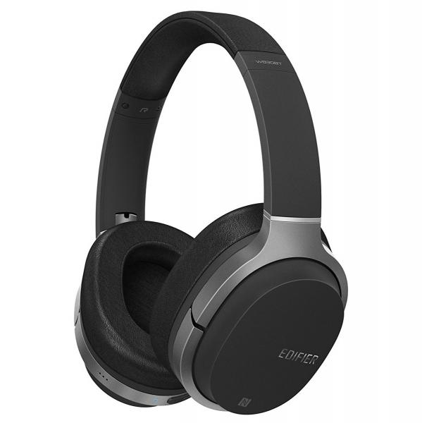 CASTI EDIFIER Bluetooth v4.1 aptX, pana la 10m, acumulator 1400mAh,  95h in utilizare,  1500h standby, 4h incarcare, frecventa raspuns 20Hz-20KHz, mic, 3.5mm pt. conexiune cu fir, NFC, 40mm difuzor, b 0
