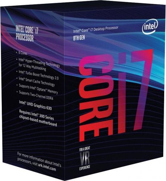 """CPU INTEL skt. 1151  Core i7 Ci7-8700,  3.2GHz, 12MB   """"BX80684I78700"""" 0"""