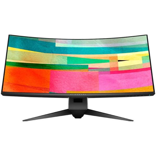 "DELL Alienware 34 Curved Gaming Monitor AW3418DW, NVIDIA G-SYNC, 34"" WQHD 3440 x 1440 IPS 21:9, 4 ms (gray-to-gray), 300 cd/m², 1000:1, 16.7 million colors, 178/178, HDMI, DisplayPort, USB 3.0 hub, Ti 0"