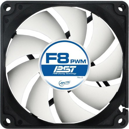 """FAN FOR CASE ARCTIC   """"F8 PWM PST"""" 80x80x25 mm, w/ PWM & cablu PST, low noise FD bearing (AFACO-080P0-GBA01) 0"""