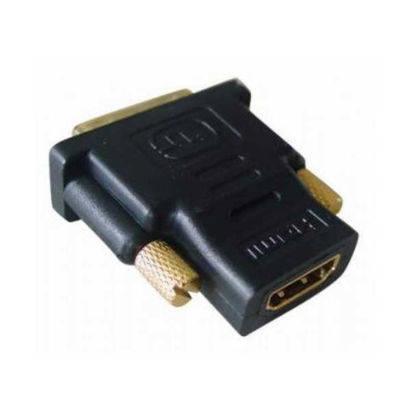 Adaptor HDMI 19 pini la DVI mama-tata, conectori auriti, bulk, Negru, GEMBIRD  0