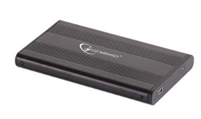 "RACK EXTERN 2.5"" USB2.0/SATA, aluminiu+plastic, Black, Gembird  0"