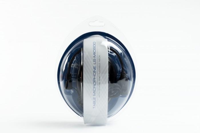 MICROFON LOGISTEP desktop stand, jack 3.5mm, black  0