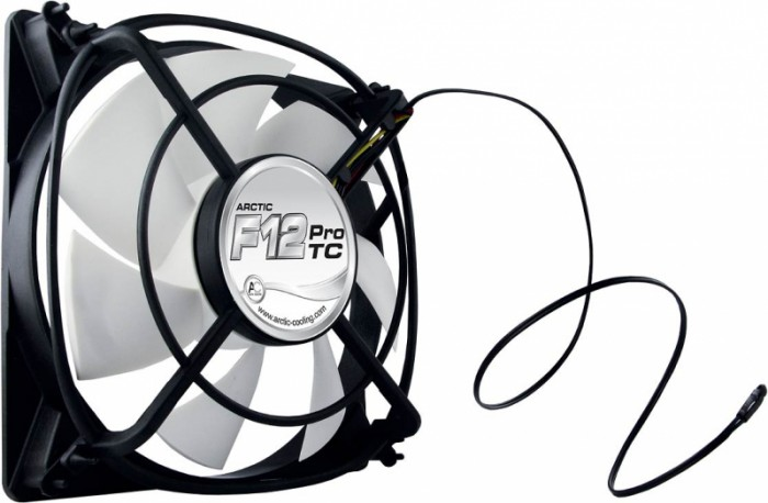 "FAN FOR CASE ARCTIC. ""F12 Pro TC"" 120x120x25 mm, senzor temperatura, low noise FD bearing (AFACO-12PT0-GBA01)"