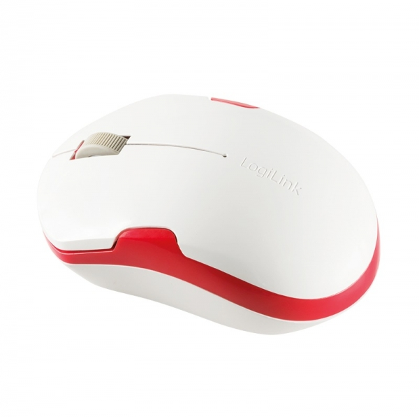 """MOUSE LOGILINK wireless, 1200dpi, 3 butoane, 1 rotita scroll, white&red """"ID0129"""" (include timbru verde 0.1 lei) 2"""