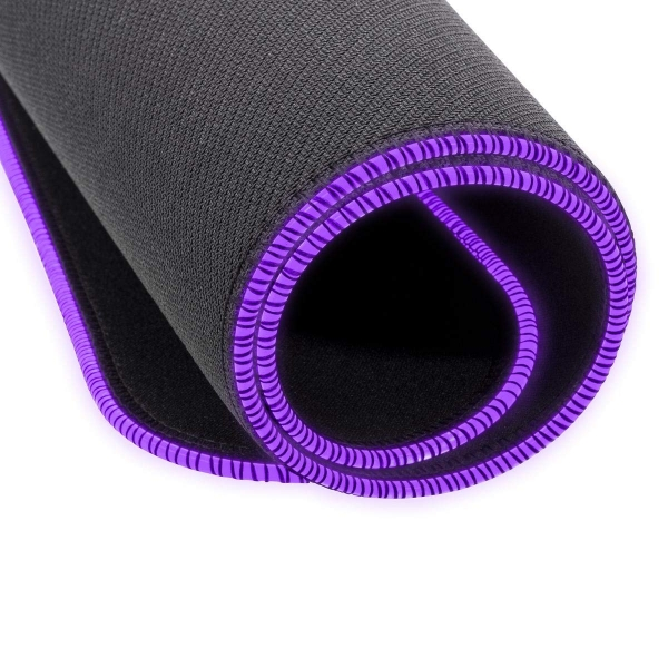 "PAD RGB COOLER MASTER gaming, 940 x 380 x 3mm, cauciuc natural & tesatura, margini cusute & iluminate RGB, durabilitate crescuta, black & purple ""MPA-MP750-XL"""