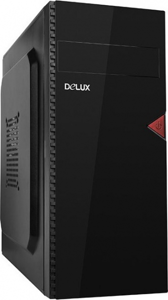 "PC Chassis DELUX ATX, with PSU 450W, Black, 1x5.25"", 2x3.5"", 3x2.5"", Front USB+Audio,  Rear: 1x80, 410x370x176mm 0"