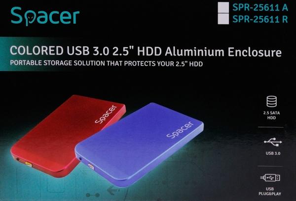 "RACK EXTERN SPACER 2.5"" HDD S-ATA to USB 3.0, Aluminiu, Albastru, ""SPR-25611A"" 4"
