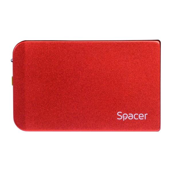 "RACK EXTERN SPACER 2.5"" HDD S-ATA to USB 3.0, Aluminiu, Rosu, ""SPR-25611R"" 0"
