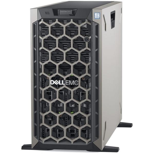 Server Dell PowerEdge T440 Tower Server, Intel Xeon Silver 4210 2.2G,16GB RDIMM 2666MT/s, iDrac9 Express, 600GB 10K RPM SAS (max. 8 x 3.5\'\' hot-plug HDD), PERC H330 RAID Controller, Single Hot-plug