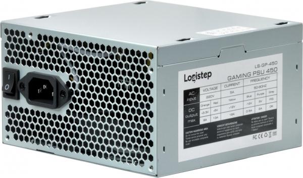"SURSA LogiStep 450, 250W pt. 450W desktop PC, Gaming PSU 450, 120mm fan, 1x PCI-E (6), 4x S-ATA ""LS-GP-450"""